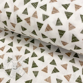 Double gauze/muslin smooth Triangle old green