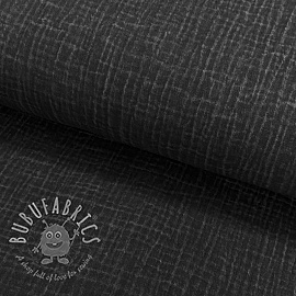 Double gauze/muslin Snoozy fabrics Dirty wash black