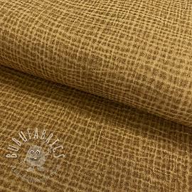 Double gauze/muslin Snoozy fabrics Dirty wash dark camel