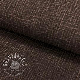 Double gauze/muslin Snoozy fabrics Dirty wash dark mocha