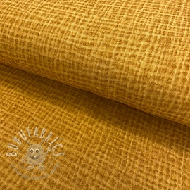 Double gauze/muslin Snoozy fabrics Dirty wash ochre