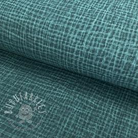 Double gauze/muslin Snoozy fabrics Dirty wash petrol