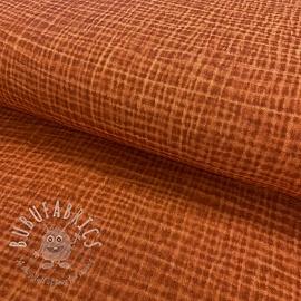 Double gauze/muslin Snoozy fabrics Dirty wash rust