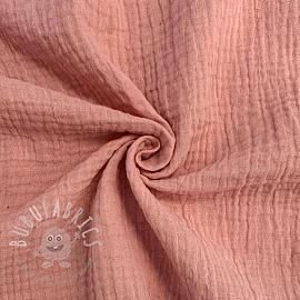 Double gauze/muslin soft rose GOTS