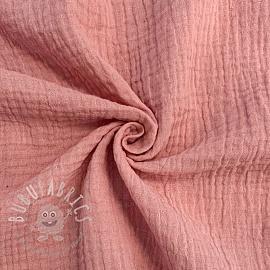 Double gauze/muslin soft rose