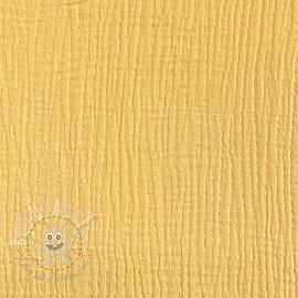 Double gauze/muslin soft yellow