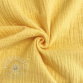 Double gauze/muslin soft yellow GOTS