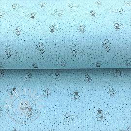 Double gauze/muslin Sweet mouse light blue