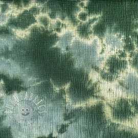 Double gauze/muslin TIE DYE old green