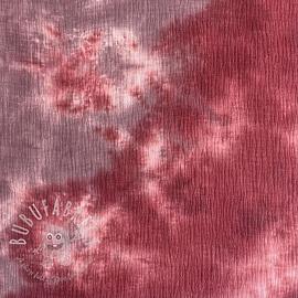 Double gauze/muslin TIE DYE old pink