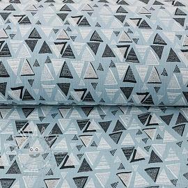 Double gauze/muslin Triangles light blue