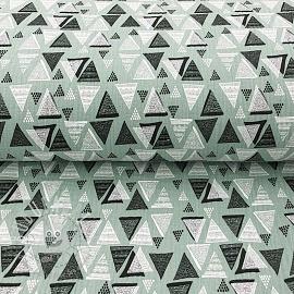 Double gauze/muslin Triangles mint