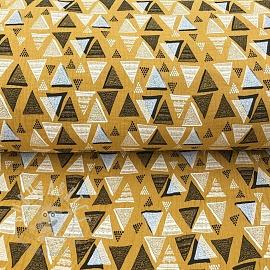 Double gauze/muslin Triangles ochre