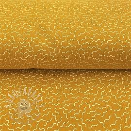 Double gauze/muslin Twirly light ochre