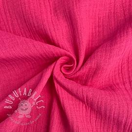 Double gauze/muslin wild pink