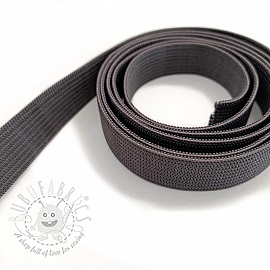 Elastic 15 mm dark grey