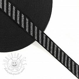 Elastic 2,5 cm Diagonal dark grey