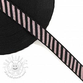 Elastic 2,5 cm Diagonal light pink