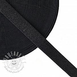 Elastic 2,5 cm glitter black