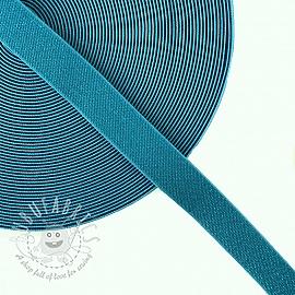Elastic 2,5 cm glitter blue