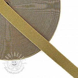 Elastic 2,5 cm glitter gold