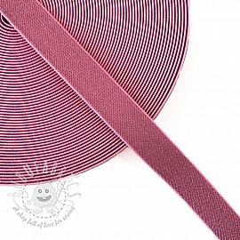 Elastic 2,5 cm glitter light pink