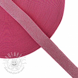 Elastic 2,5 cm glitter pink