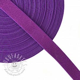 Elastic 2,5 cm glitter purple