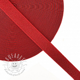 Elastic 2,5 cm glitter red