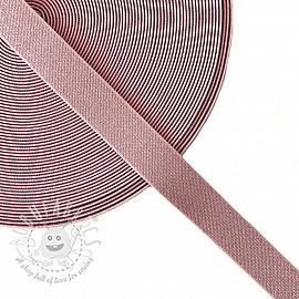 Elastic 2,5 cm glitter rose