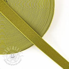 Elastic 2,5 cm glitter yellow