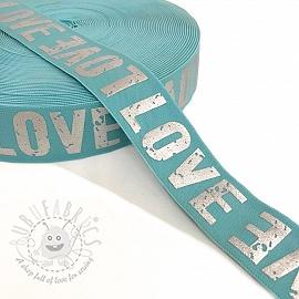 Elastic 3,5 cm LOVE mint