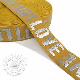 Elastic 3,5 cm LOVE ochre
