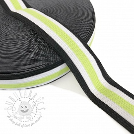 Elastic 3 cm Side stripe lime