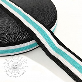 Elastic 3 cm Side stripe mint