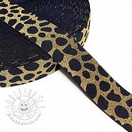 Elastic 4 cm Cheetah gold
