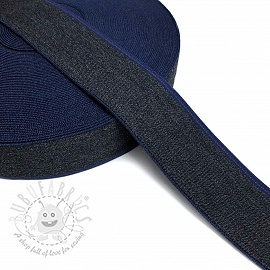 Elastic 4 cm JEANS BLUE STRIPE marine