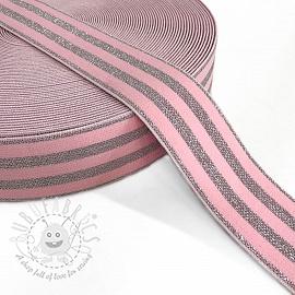 Elastic 4 cm LUREX SILVER pink