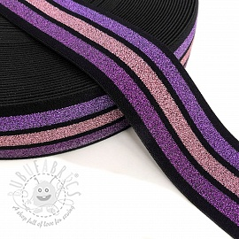 Elastic 4 MULTI purple pink