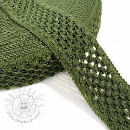 Elastic cotton binding 5 cm army