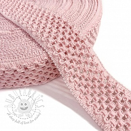 Elastic cotton binding 5 cm light rose