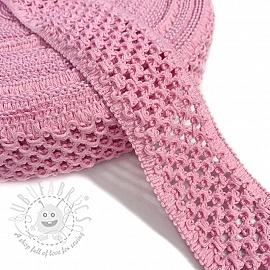 Elastic cotton binding 5 cm pink