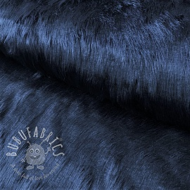 Faux fur LONG navy