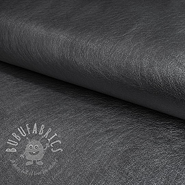 Faux leather anthracite metallic