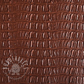Faux leather CAIMAN chocolat