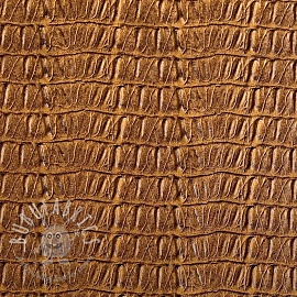 Faux leather CAIMAN sable