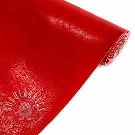 Faux leather MALTESE rouge