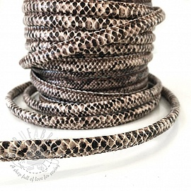 Faux leather cord Snake brown