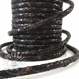 Faux leather cord Snake choco