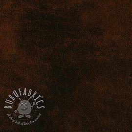 Faux leather CUIR brun